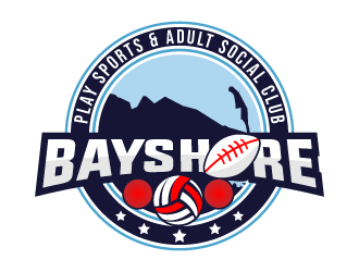 Bayshore Play Sports & Adult Social Club logo design