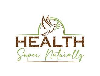 Health Super Naturally logo design