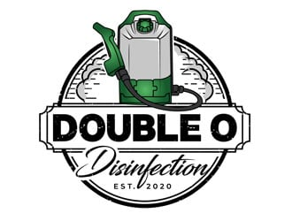 Double O Disinfection logo design