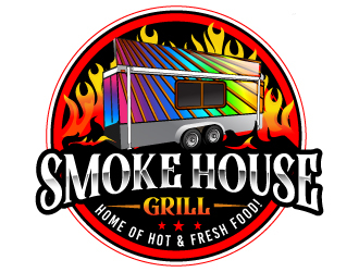 Smoke House Grill logo design winner