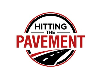 HITTING THE PAVEMENT  logo design