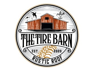 The Tire Barn & Rustic Roof logo design