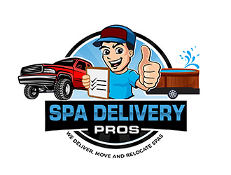 Spa Delivery Pros logo design