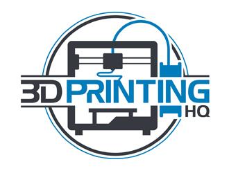3D Printing HQ logo design
