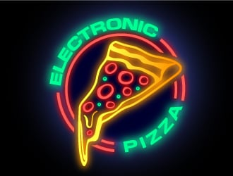 Electronic Pizza logo design