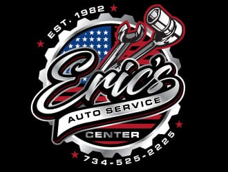 Erics Auto Service Center logo design
