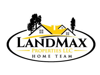 LandMax Properties LLC Home Team logo design