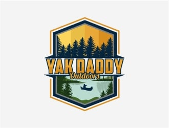 Yak Daddy Outdoors logo design