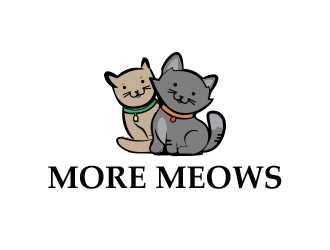 More Meows logo design