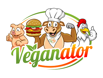 VEGANATOR logo design winner