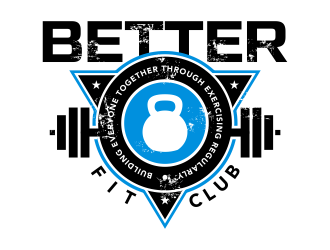 BETTER Fit Club (Building Everyone Together Through Exercising Regularly) Logo Design