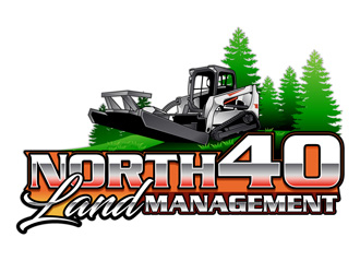 North 40 land management  logo design