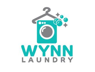Wynn Laundry logo design