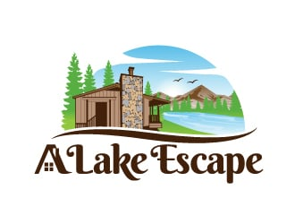 A Lake Escape logo design