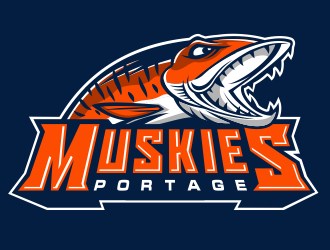 Portage Muskies logo design
