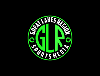 Great Lakes Region Sports Media logo design