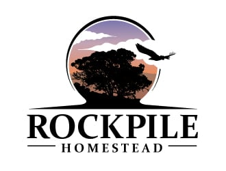 Rockpile Homestead logo design
