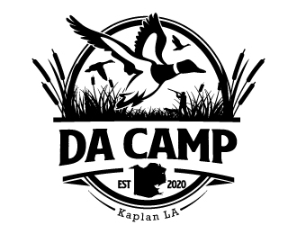 Is for our hunting camp called Da Camp logo design