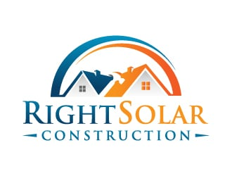 Right Solar Construction logo design