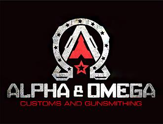 Alpha & Omega Customs and Gunsmithing logo design