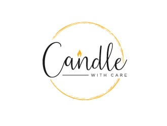 Candle with Care logo design
