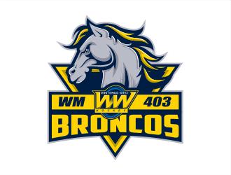 Whitemud West WM403 Broncos logo design by evdesign