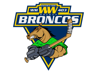 Whitemud West WM403 Broncos logo design by Kruger