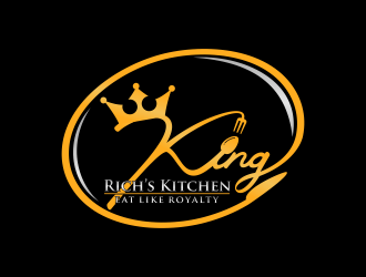 King Rich's Kitchen logo design