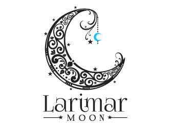Larimar Moon logo design