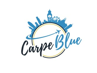 Carpe Blue logo design