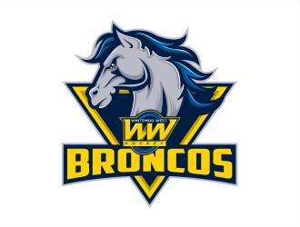 Whitemud West WM403 Broncos logo design