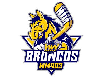Whitemud West WM403 Broncos logo design by haze