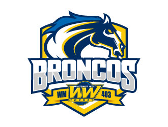 Whitemud West WM403 Broncos logo design by daywalker