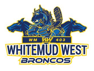 Whitemud West WM403 Broncos logo design by Roma
