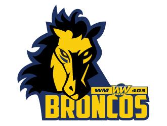 Whitemud West WM403 Broncos logo design by Suvendu