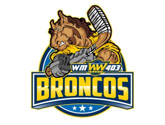 Whitemud West WM403 Broncos logo design by LucidSketch