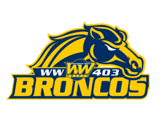 Whitemud West WM403 Broncos logo design by jaize