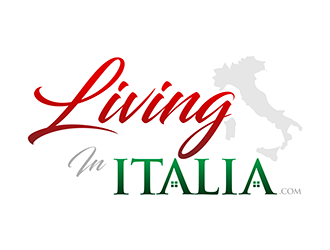Living in Italia logo design
