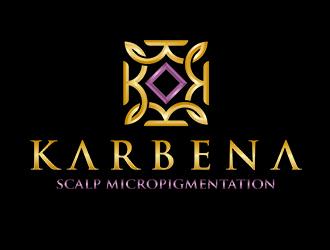 Karbena ~ SMP (scalp micropigmentation) logo design