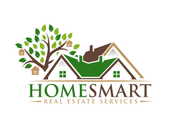 Home Smart Real Estate Services logo design