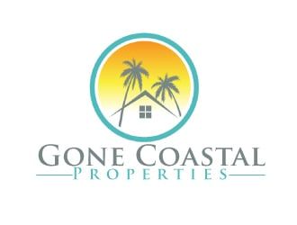 Gone Coastal Properties logo design