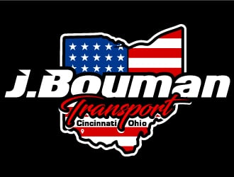 J.Bouman Transport  logo design