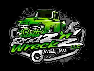 Scotts Rodz n Wreckz llc logo design