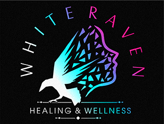 White Raven Healing & Wellness logo design winner