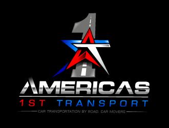 Americas 1st Transport logo design