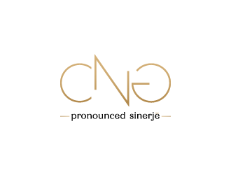 CNG (pronounced Sinerjē) logo design