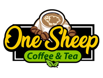 One Sheep Coffee & Tea logo design