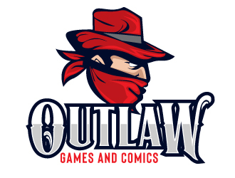 Outlaw Games and Comics logo design by AamirKhan