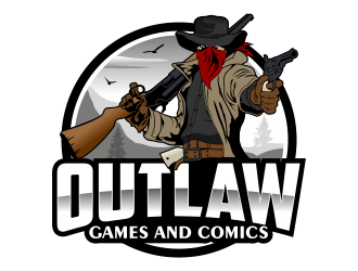 Outlaw Games and Comics logo design by Kruger
