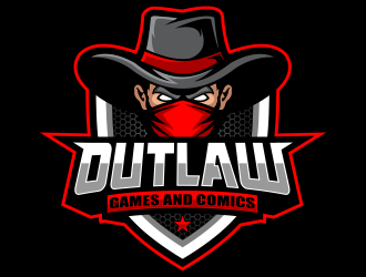Outlaw Games and Comics logo design by jm77788